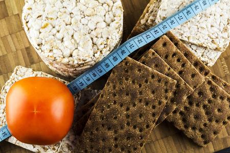 dietetic: Crispbread and tomatoes dietetic food