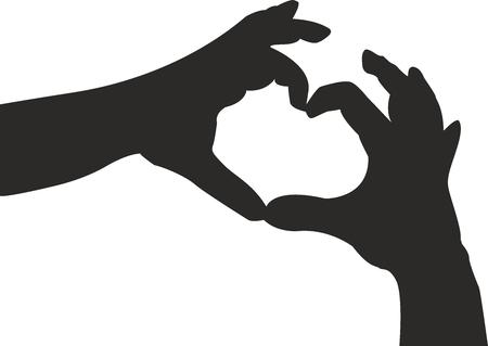 sympathy: Hands in heart shape