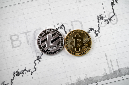 Litecoin and bitcoin cryptography changes in exchange rates Zdjęcie Seryjne