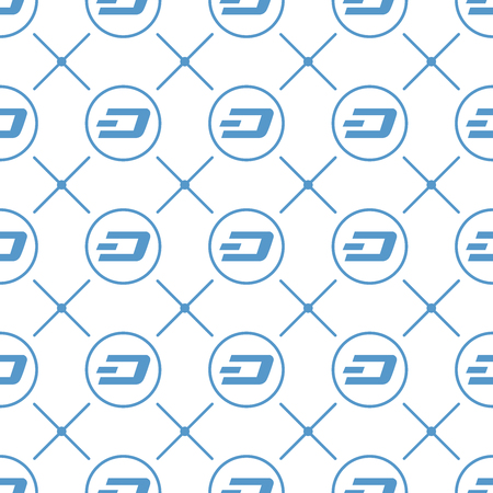 Cryptocurrency dash seamless business pattern free trade Illustration