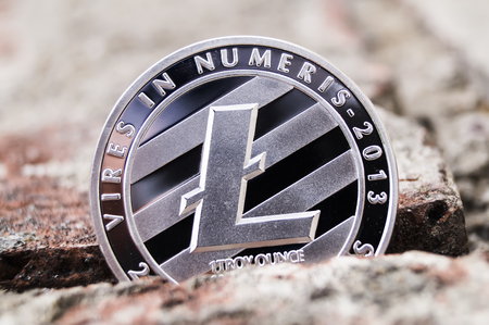 Litecoin cryptography changes in exchange rates 免版税图像