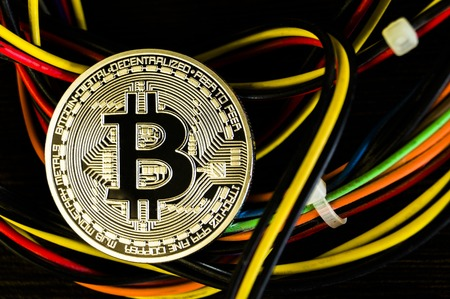 Bitcoin is a modern way of exchange and this crypto currency is a convenient means of payment in the financial Zdjęcie Seryjne