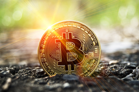 Bitcoin is a modern way of exchange and this crypto currency is a convenient means of payment in the financial and web markets Banco de Imagens