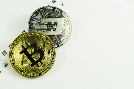 Bitcoin is a modern way of exchange and this crypto currency is a convenient means of payment in the financial and web markets Reklamní fotografie