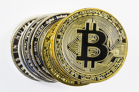 Bitcoin is a modern way of exchange and this crypto currency is a convenient means of payment in the financial and web markets Stock fotó