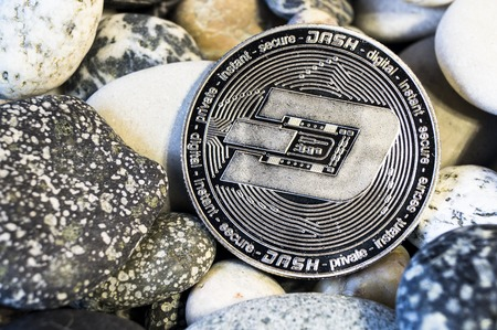 Dash is a modern way of exchange and this crypto currency is a convenient means of payment in the financial and web markets Stok Fotoğraf