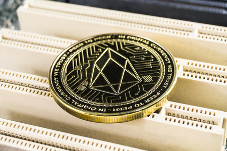 EOS is a modern way of exchange and this crypto Stok Fotoğraf