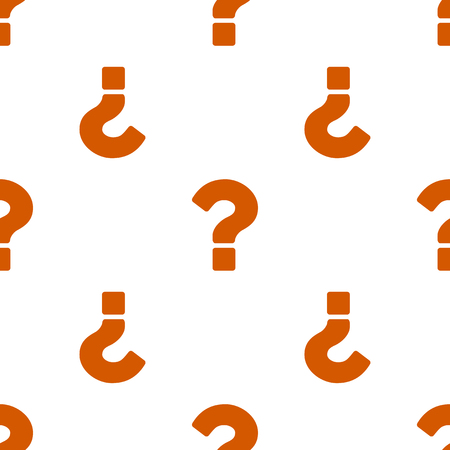 Question marks seamless pattern on white background