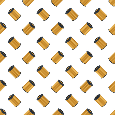 Seamless pattern car filters on a white background air