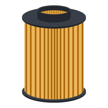 car air filter on a white background