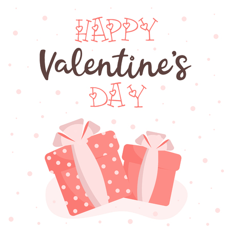 Greeting card with Valentines Day