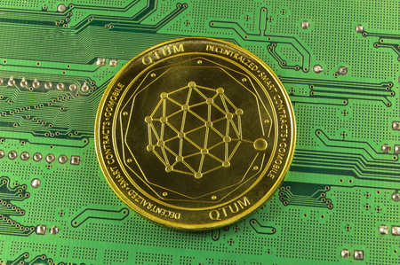 qtum is a modern way of exchange and this crypto currency is a convenient means of payment in the financial Banco de Imagens