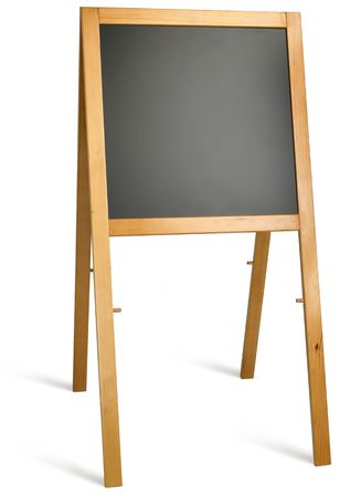 blank school blackboard on a white background