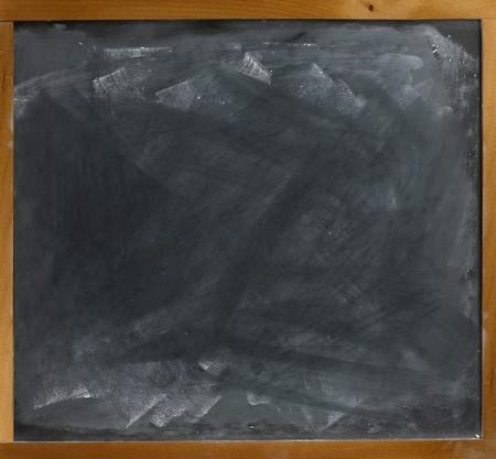 a blank empty frame blackboard, chalkboard  straight on  Stock Photo