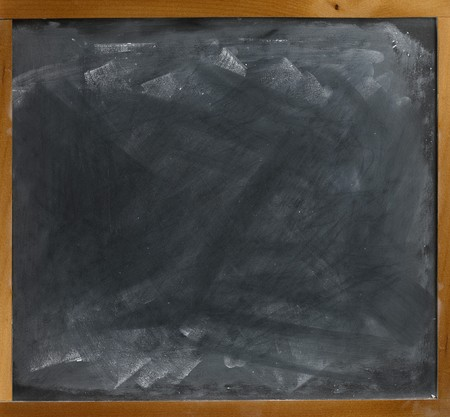 a blank empty frame blackboard, chalkboard  straight on  Stock Photo