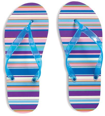 Flip Flops on white background