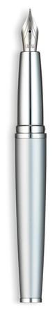 Fountain pen on white background Stock Photo