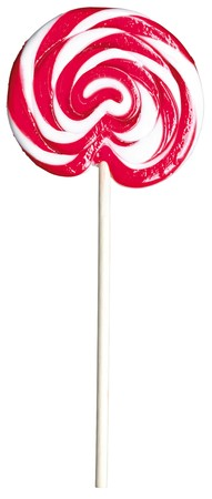 lolly pop: red and white giant kids childs lollipop lolly pop on a white background