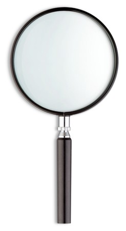 holmes: magnifying glass on a white background
