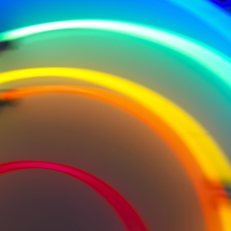 a blurred neon colorful abstract concentric circle background Stock Photo - 7924895