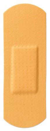 a sticking plaster elastoplast bandaid on a white background Stock Photo