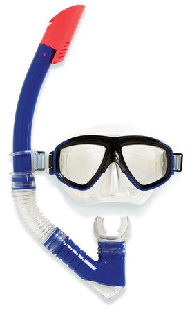 diving snorkel and mask on a white background Stock Photo