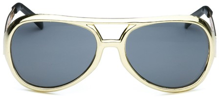pair of elvis the king style sunglasses on a white background Stock Photo