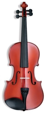 violin musical instrument on a white background Stock Photo