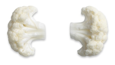 a pair of  comedy cauliflower ears isolated on white with path waiting for a face to be drawn