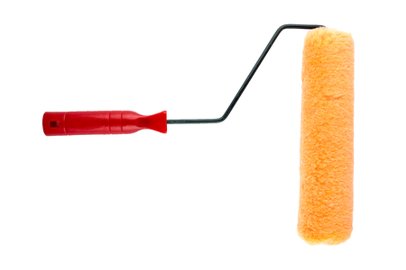 Paint roller brush isolated on white background.