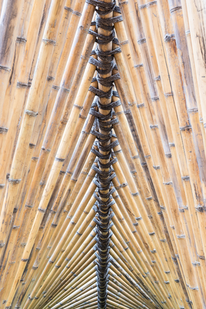 other keywords: Architectural bamboo wall. Abstract background. Stock Photo