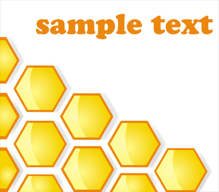 patch of light: Background. Honey honeycombs