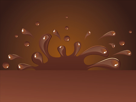 bitter: Hot chocolate Illustration