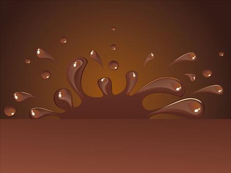 Warme chocolademelk Vector Illustratie