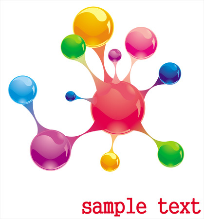 molecule Stock Vector - 8763652