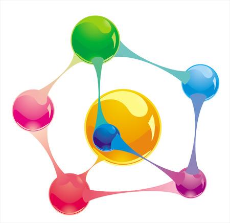 molecule Stock Vector - 8763635