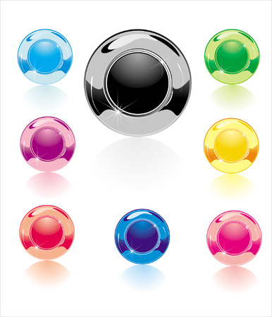 Color glossy samples of buttons for design Stock Vector - 8763675