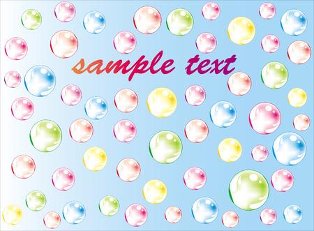 Color soap bubbles Stock Vector - 8763694