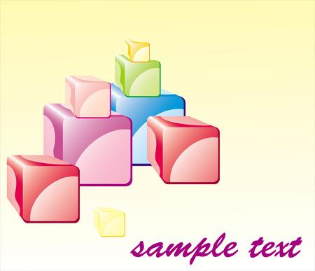 cutaway drawing: Cubetti di colore