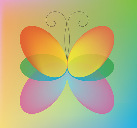 Abstraction. The beautiful color butterfly Stock Vector - 8985640
