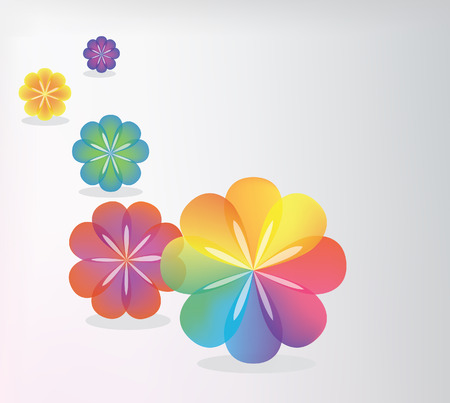 cutaway drawing: Background. Color transparent flowers Illustration