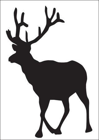 elk horn: Abstracci�n. Una silueta de un alce va