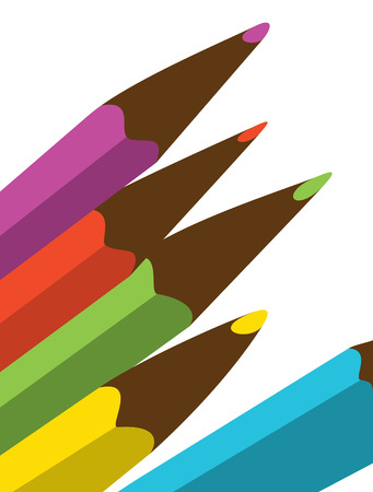 Abstraction. A set of color pencils for drawing Stock Vector - 9081210
