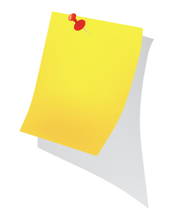 hangs: Background. Yellow sheet for records Illustration