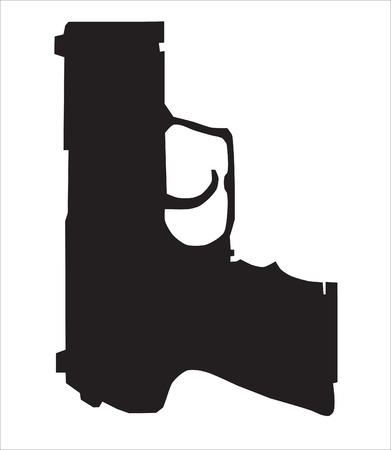 Background. Abstraction. A service pistol silhouette