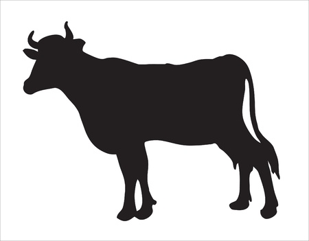 hoofs: Abstraction. A pet. A silhouette of a cow Illustration
