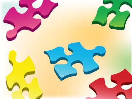 Background. Color puzzles for design Illustration