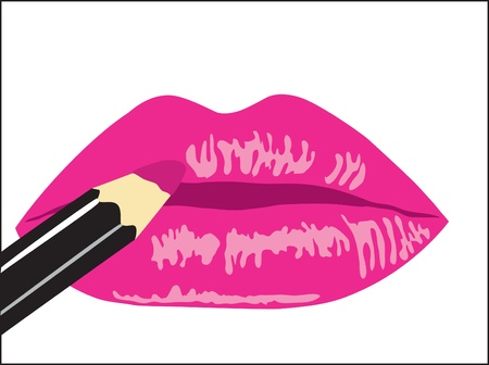 lip gloss: Background. Female lips with lipstick