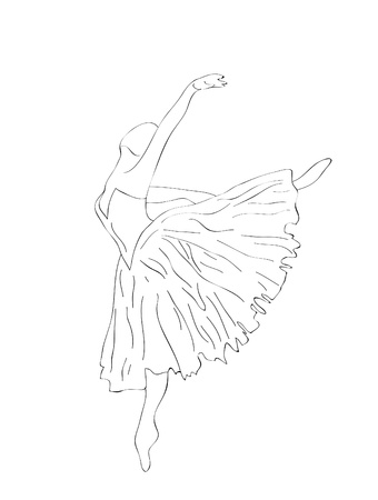 Abstract background. The ballerina dancing dance