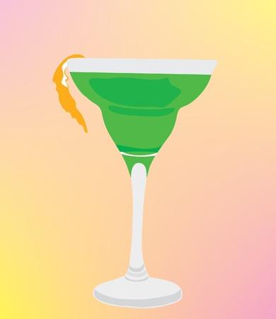 orange peel: Cocktail with an orange peel.
